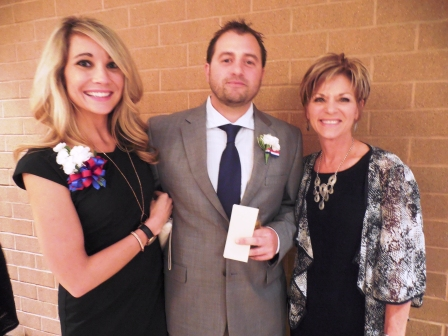 2016 inductee Christopher Dore with his guest, Lisa Walker, and his mother, Darlene