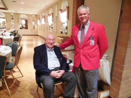 Bob Blatchford, left, a 2003 inductee and Keith Waters. Both are LSHOF Committee members