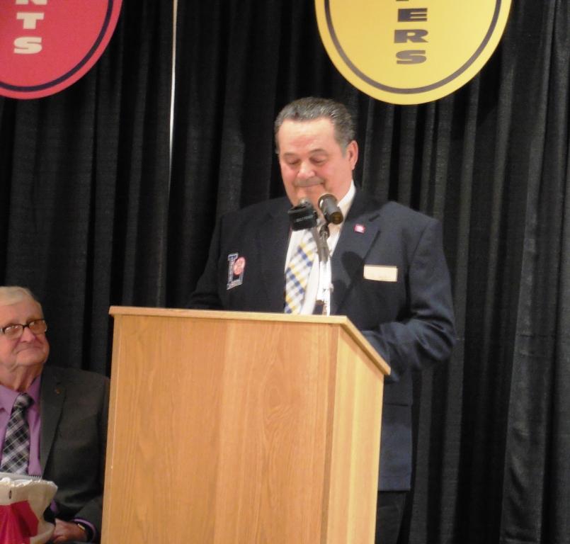 Enshrinee Tim Jenkins, speaks after his induction 5.12.16