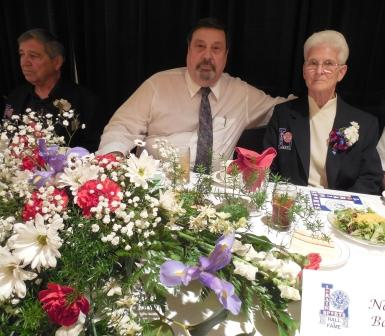 From the left, Frank Graziano, Tom Bauer and wife Nancy Bauer. All three are LSHOF  enshrinees.