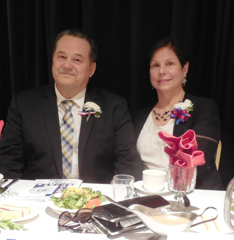 Inductee Tim Jenkins and his wife, Denise
