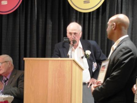 Jim Macholl, manager, speaks for the 1990 Lorain Catholic Baseball Team
