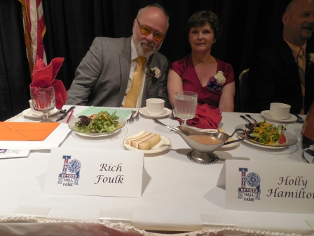 Rich Foulk and Holly Hamilton represented 2016 inductee Lillian Saez who was unable to attend the ceremony because of illness