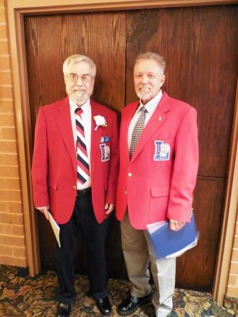 Tom Skoch, left, and Bill Rufo. LSHOF president and vice president, respectively