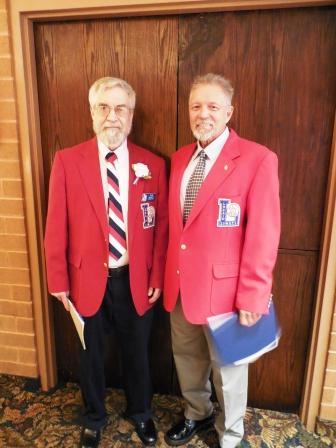 Tom Skoch, left, and Bill Rufo. LSHOF president and vice president, respectively