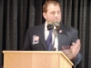 Enshrinee Christopher Dore speaks after his induction 5.12.16