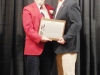Enshrinee Jonathan Senters, right, accepts his plaque from Tom Skoch, LSHOF president 5.12.16