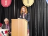 Holly Koepp speaks after being enshrined 5.12.16