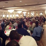 A large crowd attended the 45th annual banquet.