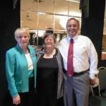 Barb McConihe, Bambi Dillon & Inductee Daniel Yurovich