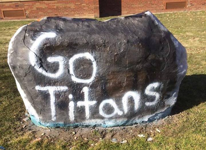 This photo from the Lorain Schools TV20 Facebook page, shows the spirit rock at Clearview High School cheering on the Titans. We share the Clippers' enthusiasm for a Lorain win in the Regional Semifinals of boys basketball being played in Akron tonight. Go, Titans!