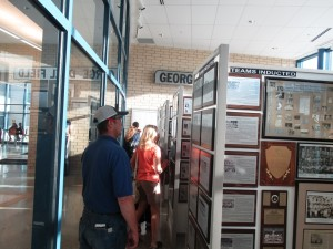 Visitors tour the new Lorain Sports Hall of Fame Museum at Lorain High School on Sept. 15, 2016, during the new high school's three-day open house and ribbon-cutting.