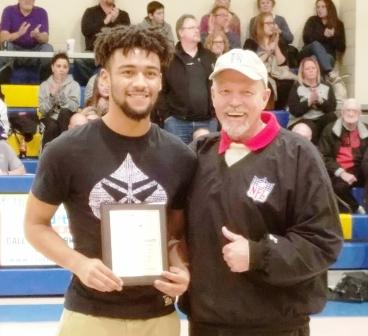 Clearview High School athlete Antonio Bennett receives a Lorain Sports Hall of Fame plaque from LSHOF leader Bill Rufo on Jan. 24, 2017. He was recognized for being named 2016 All-Ohio 1st Team Baseball. His batting average was an impressive .656. Great job, Antonio!